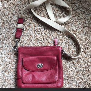 Coach crossbody red purse